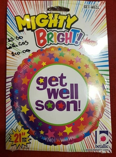 Get well soon Foil Balloon 83cm