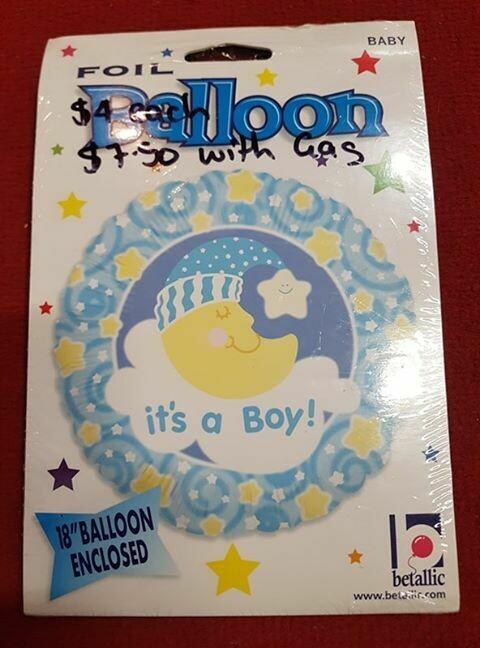 """It's a boy foil Balloon 30.4cm 18""""'"""
