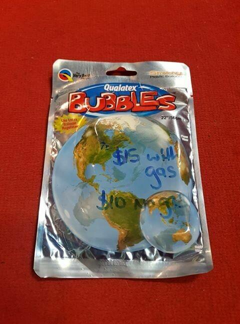 "World foil Balloon 56cm 18""'"