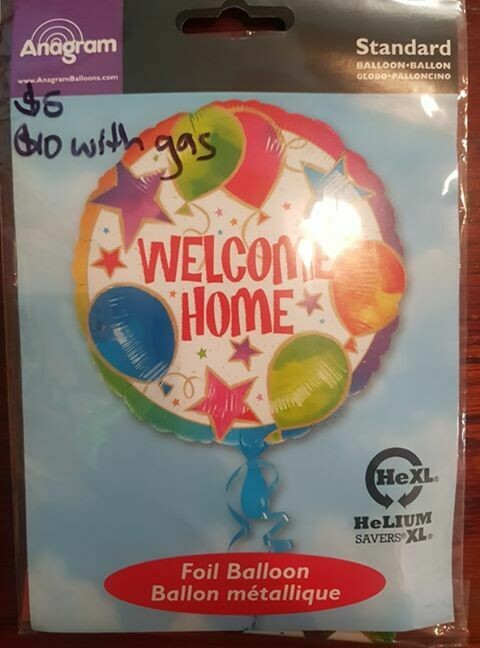 Welcome home foil balloon 91cm
