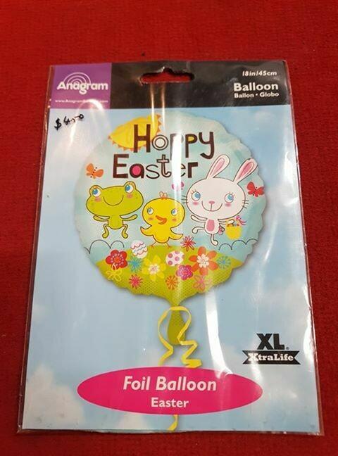 Happy easter foil balloon 45cm