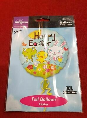 Happy easter foil balloon 45cm