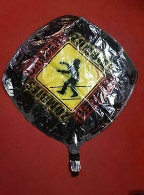 1 Danger Zombie balloon