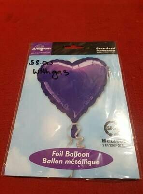 Purple Love heart Foil balloon