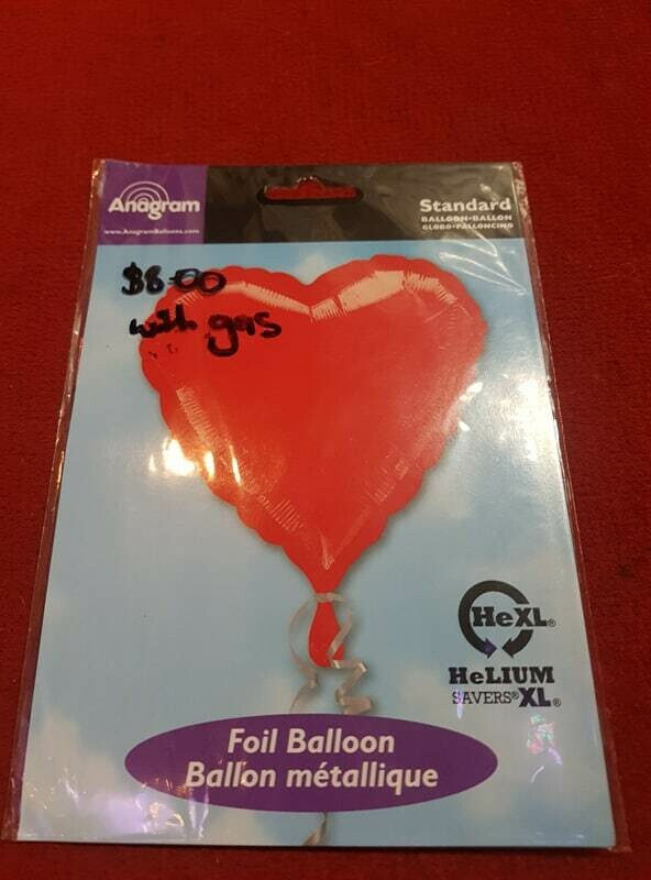 Red Love heart Foil balloon