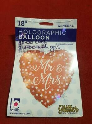 Mr & Mrs Foil balloon 46CM