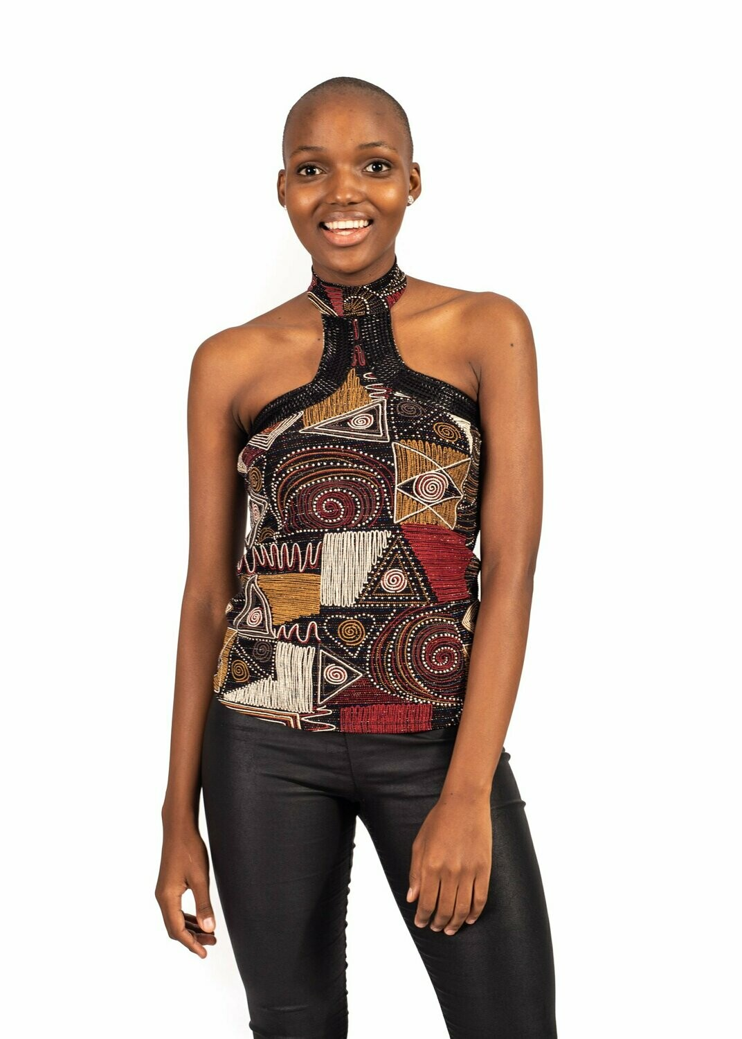 African modern art Cocktail blouse