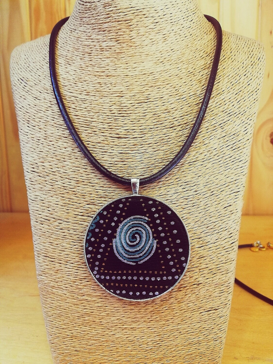 Modern art at it's best, 100% leather necklace