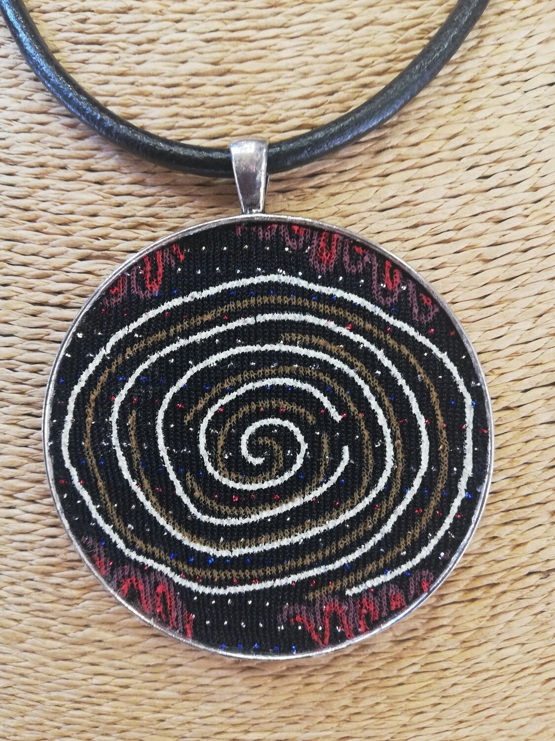 Fun African inspired spiral necklace