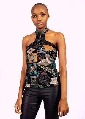Gorgeous Afro Politan cocktail blouse