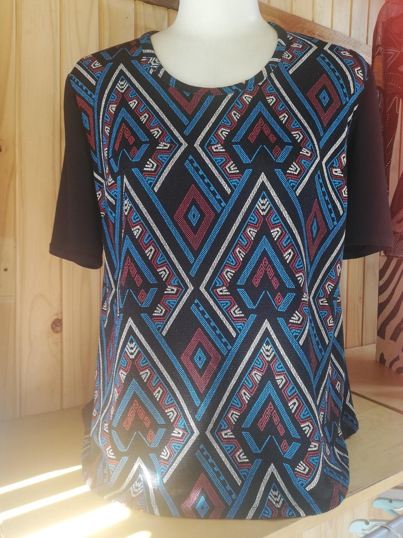 Comfortable fuller figure, A-line blouse