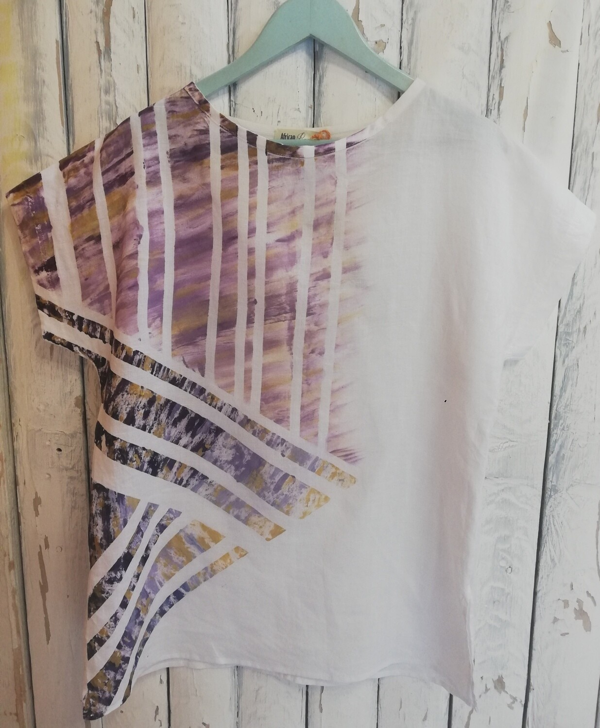 Hand Painted Linen Blouse