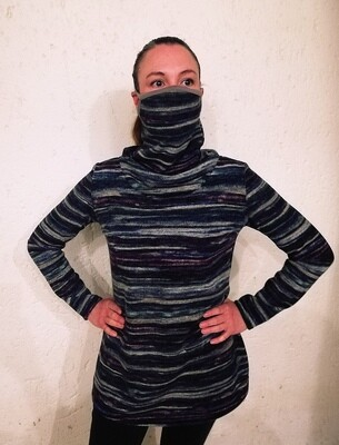 Two In One! Polar-neck Winter Sweater