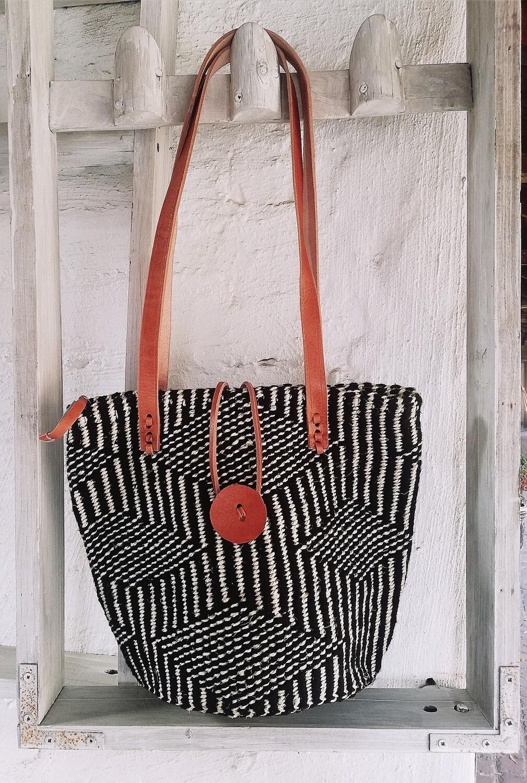 Sisal & Leather, Hand Woven Bag