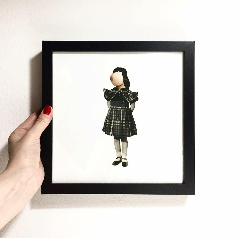 melk meisje | original collage