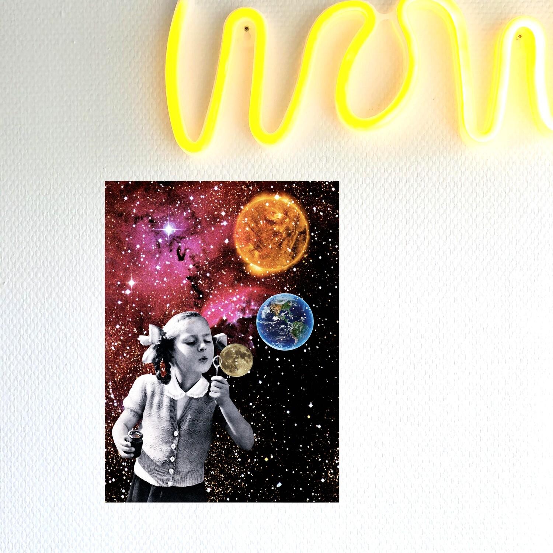 print | bubble space