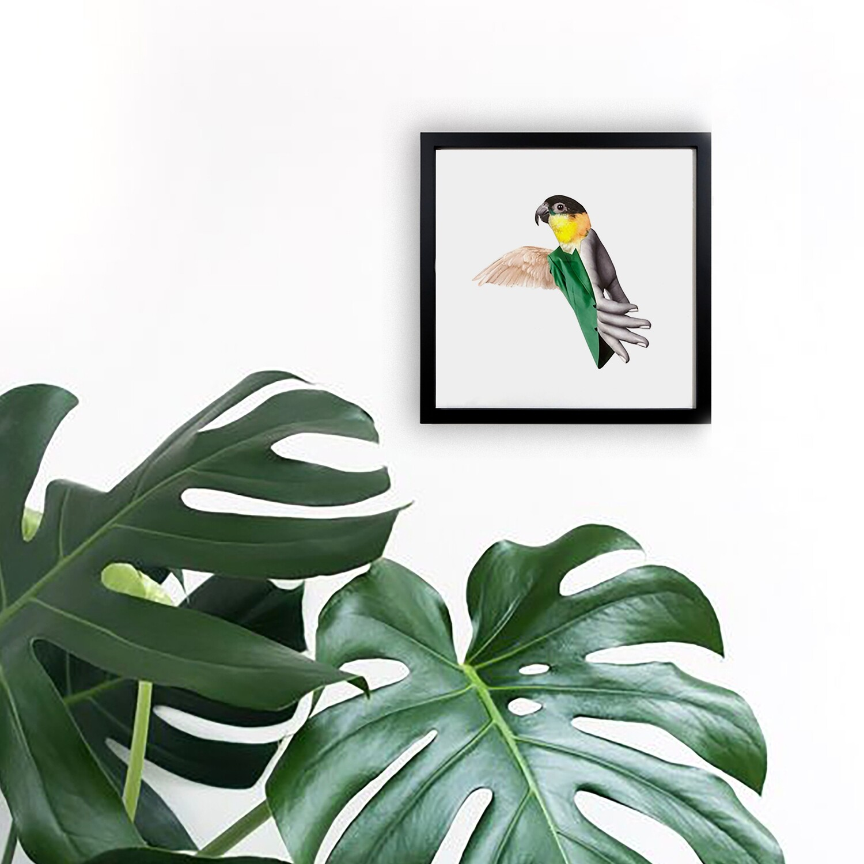 bird | original collage