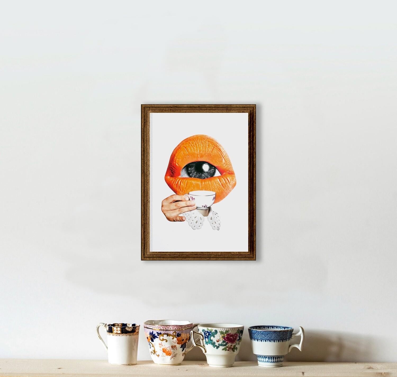 eye tea | original collage