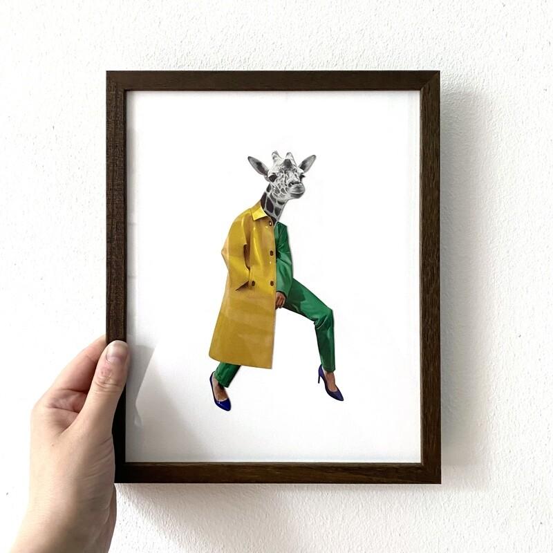 urban giraffe | original collage