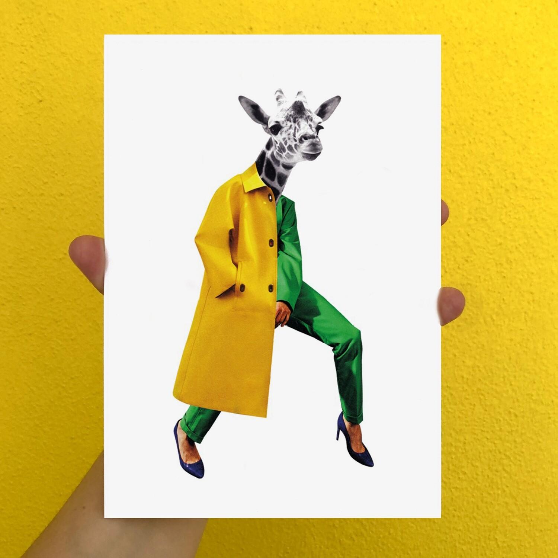 urban giraffe | print