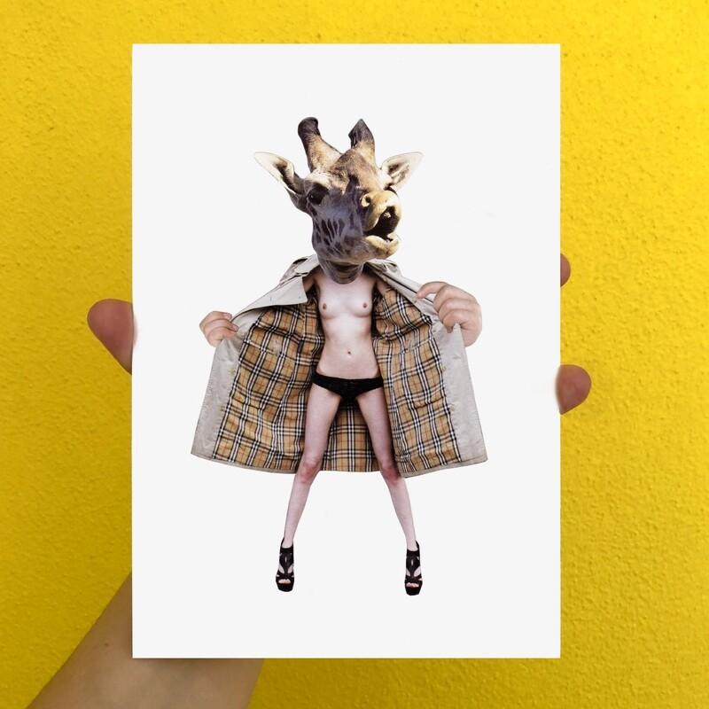 print | giraffe