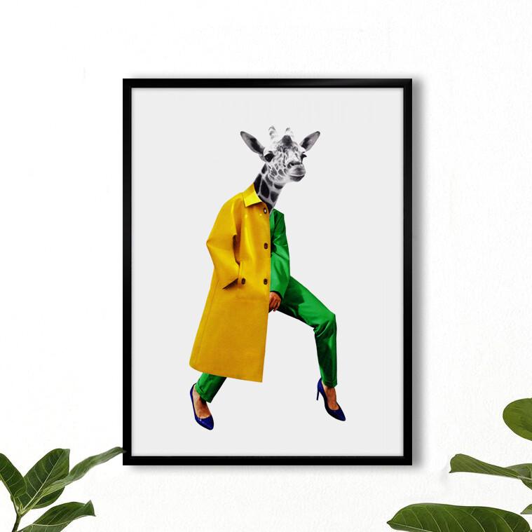 print | urban giraffe