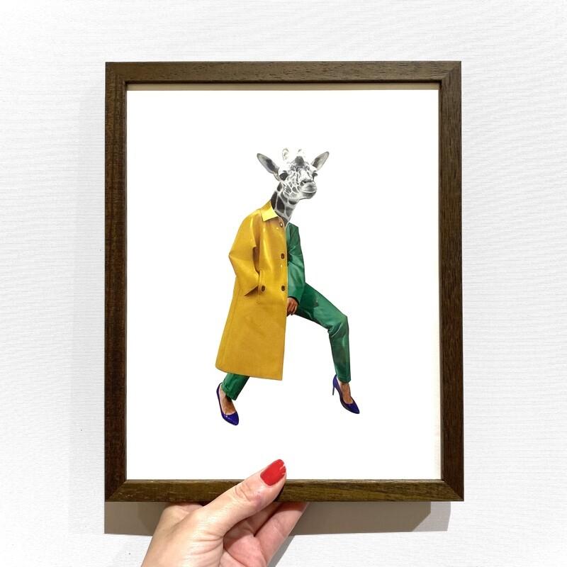 urban giraffe   original collage