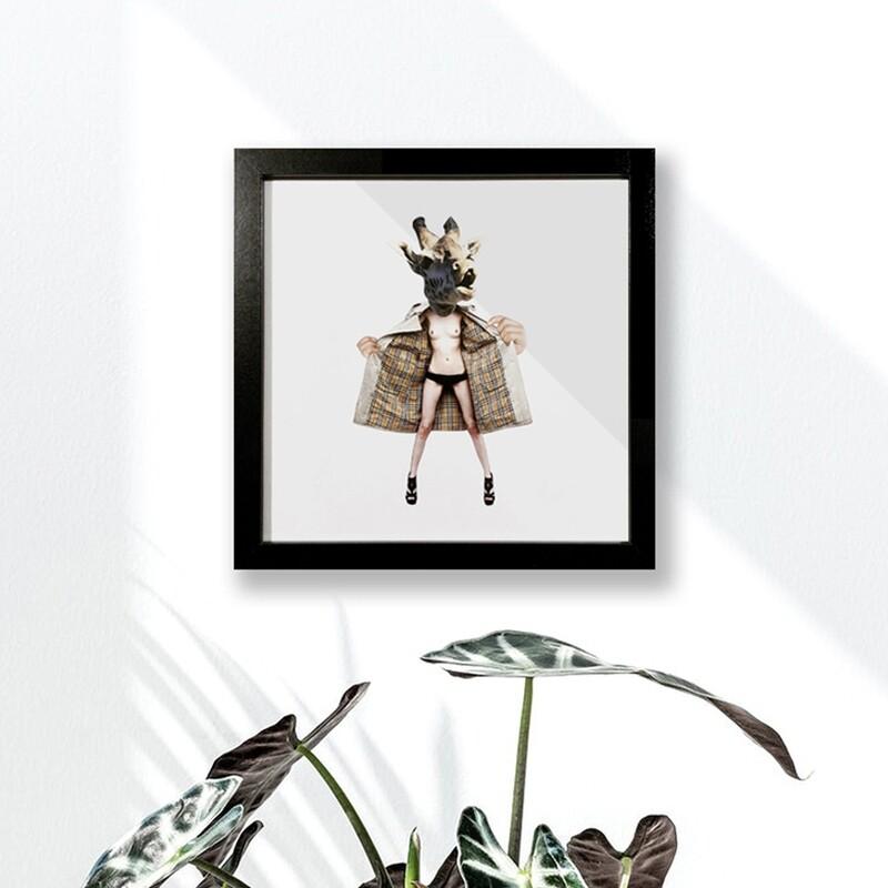 sexy giraffe   original collage