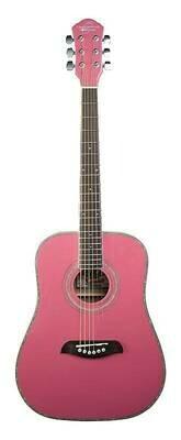 Acoustic Guitar 3/4 Size OSCAR SCHMIDT OG1PA Pink