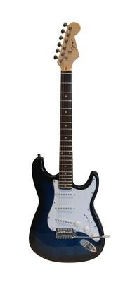 Electric Guitar ST Style full size for beginners Dark Blue Stripe iMEG285 iMusicGuitar