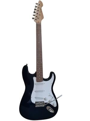 Electric Guitar ST Style full size for beginners Plain Dark Blue iMEG287 iMusicGuitar