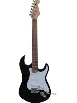 Electric Guitar ST Style full size for beginners Black iMEG289 iMusicGuitar