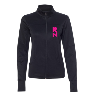 Nurse pink heart collard women's jacket