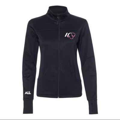 ICU women's collared Black jacket