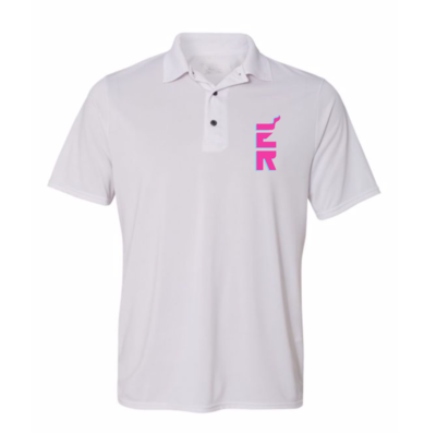 Vice ER white dri-fit unisex polo