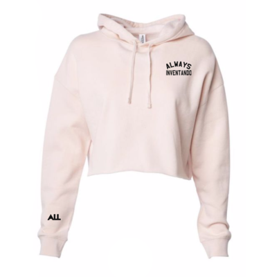 Lightweight Always Inventando Cropped Blush Hoodie