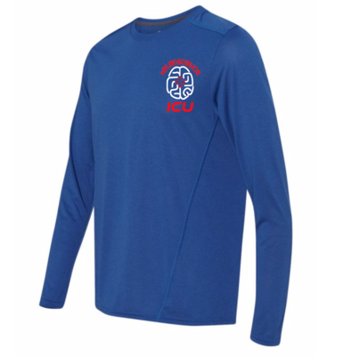 Neuro ICU royal blue dri-fit unisex tee