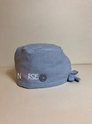 Nurse stripe Scrub Cap