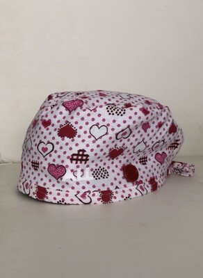 Red Hearts and Polka Dots Cap