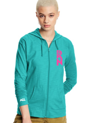 Hope RN Teal women's lightweight hoodie