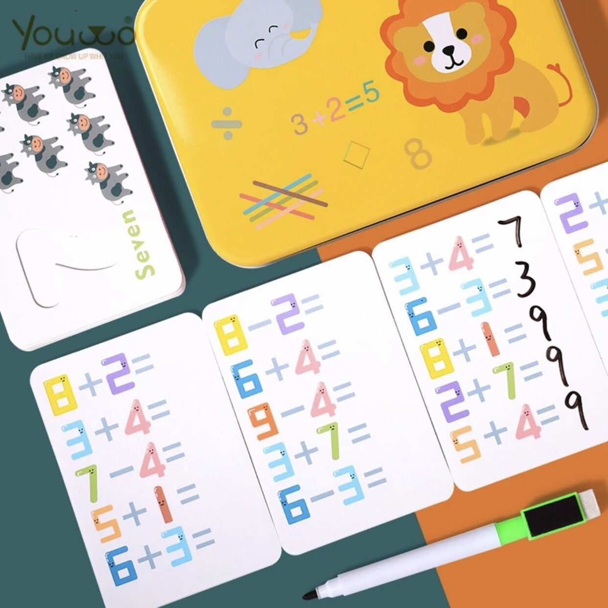 Reusable Math Learning Educational Puzzle