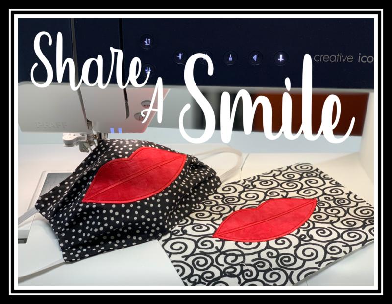 Share a Smile Applique Embroidery Design