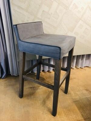 PIET BOON Saar / Barstuhl Leder Luxury Grey Brown, Eiche Taupe