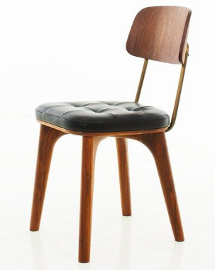 STELLAR WORKS chair brown and black leather