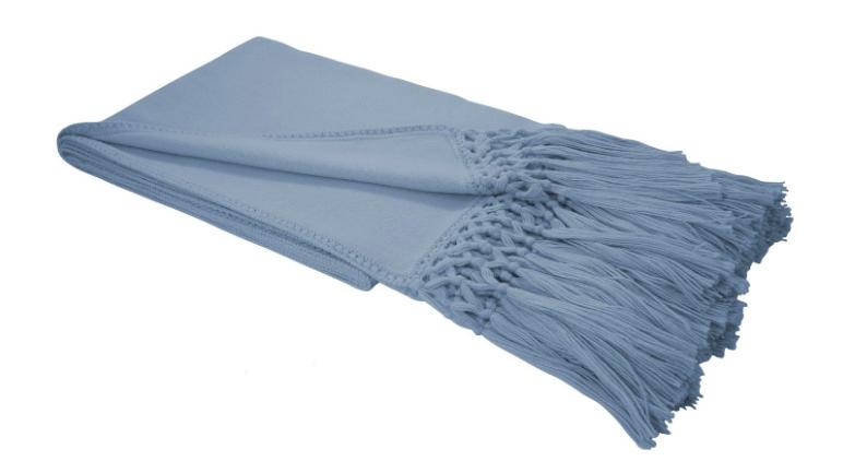 Auskin Decke Alpaca blau
