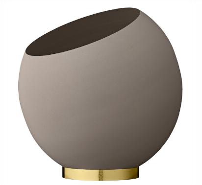AYTM GLOBE flower pot Taupe Durchmesser 37cm