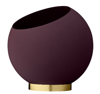 AYTM GLOBE flower pot Bordeaux Durchmesser 30cm