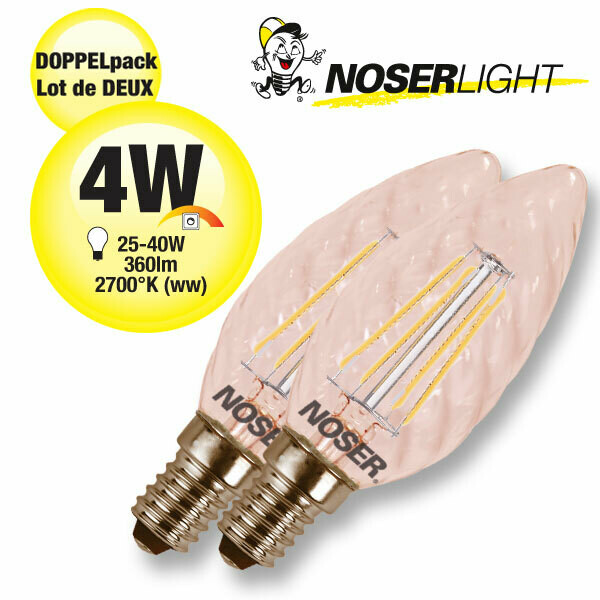 Doppelpack LED-Kerzen E14