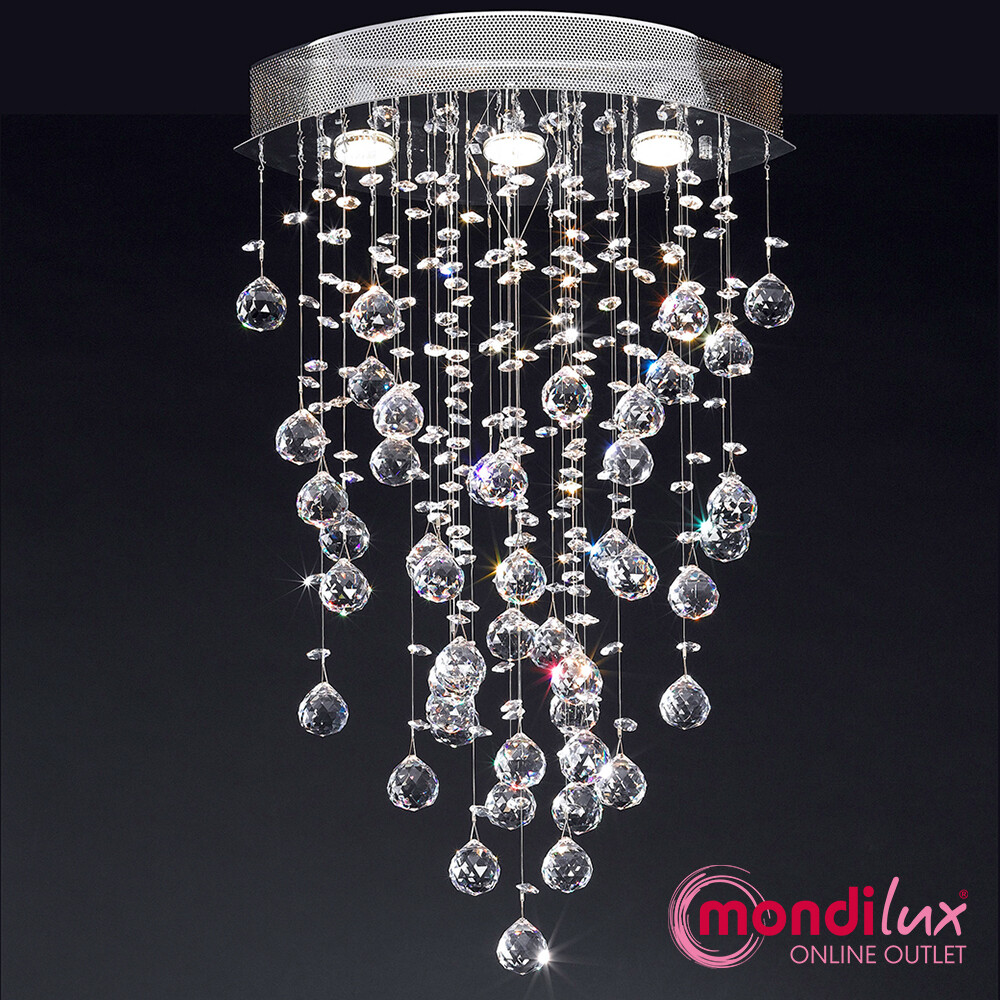 LHASA Deckenlampe mit Asfour-Bleikristall