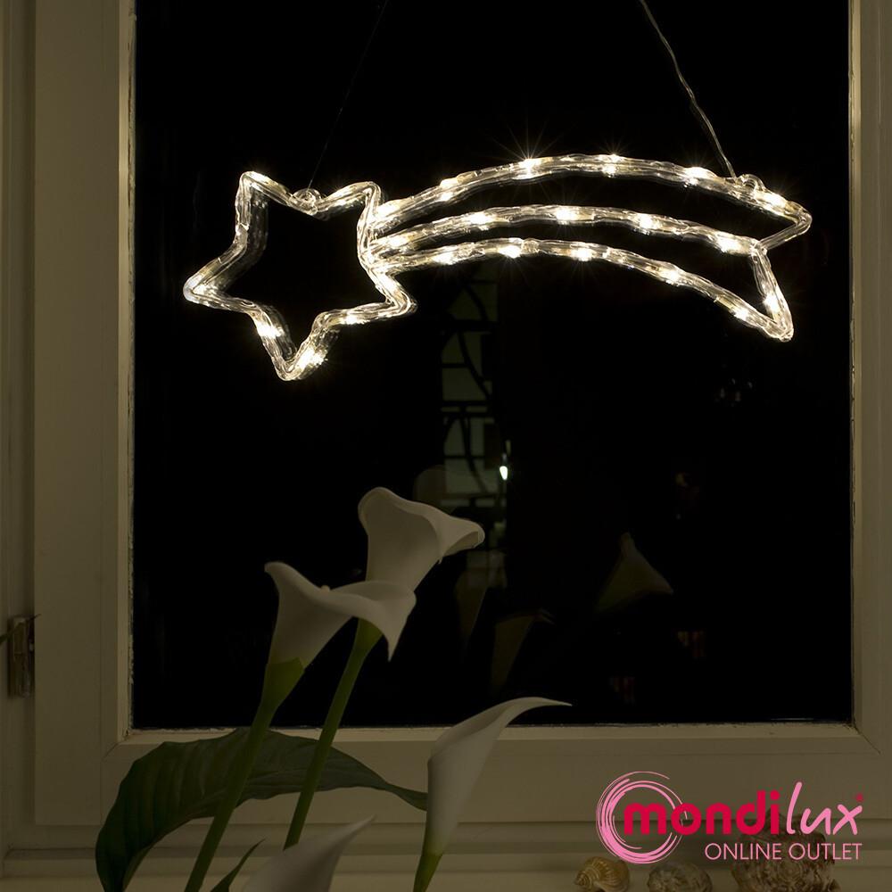 Acryl Komet mit 24 LED's für In- und Outdoor
